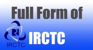 full form of irctc