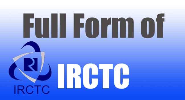 full form of irctc
