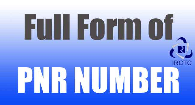 full form pnr